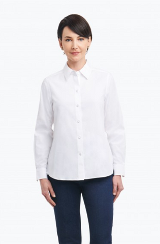102056 Foxcroft Collection Diane Non-Iron Pinpoint Shirt