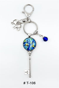 Marie France Carriere T-106 Keychain Lucky Charm Peacock