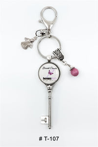Marie France Carriere T-107 Keychain Lucky Charm Breast Cancer