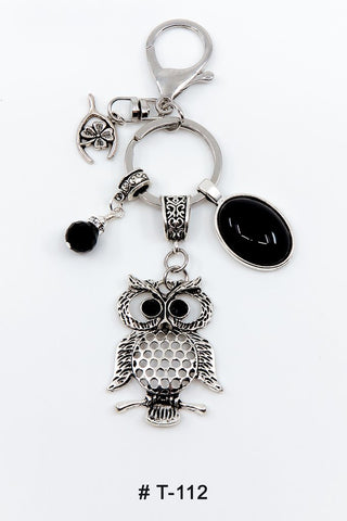 T-112 Keychain Lucky Charm Owl Marie France Carriere