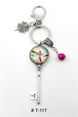 T-117 Keychain Lucky Charm Dragonfly Marie France Carriere