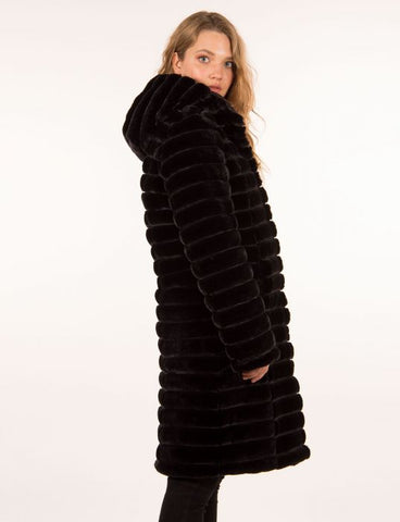 Claire Desjardins Sale, Carre Noir 2998 FAUX FUR REV. COAT