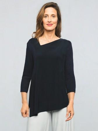 Sympli, Fall 2020 22161-2 Slant Top, 3/4 Sleeve