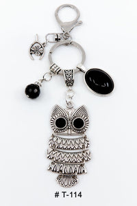 Marie France Carriere T-114 Keychain Lucky Charm Owl