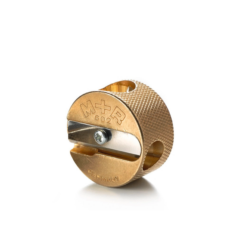 Brass Sharpener Double Hole Round