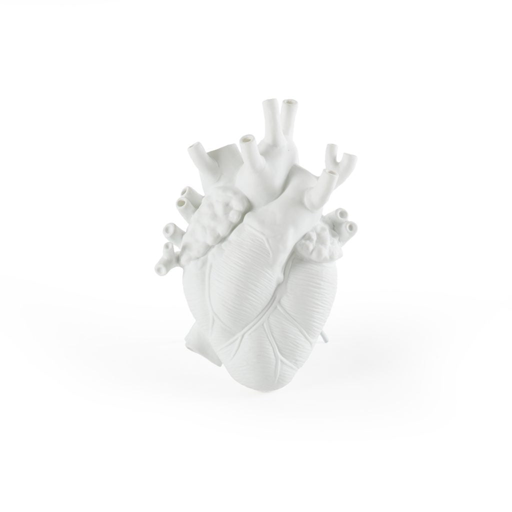 Seletti Love in Bloom Porcelain Heart Vase