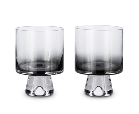 Tom Dixon Black Low Ball Glasses