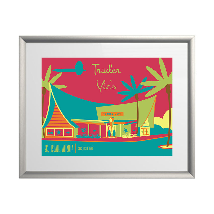 Post & Beam Trader Vic's Print