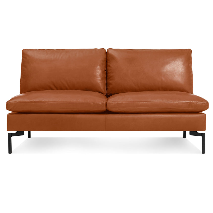 "New Standard 60"" Armless Leather Sofa"