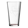 beer. Texas - Pint Glass
