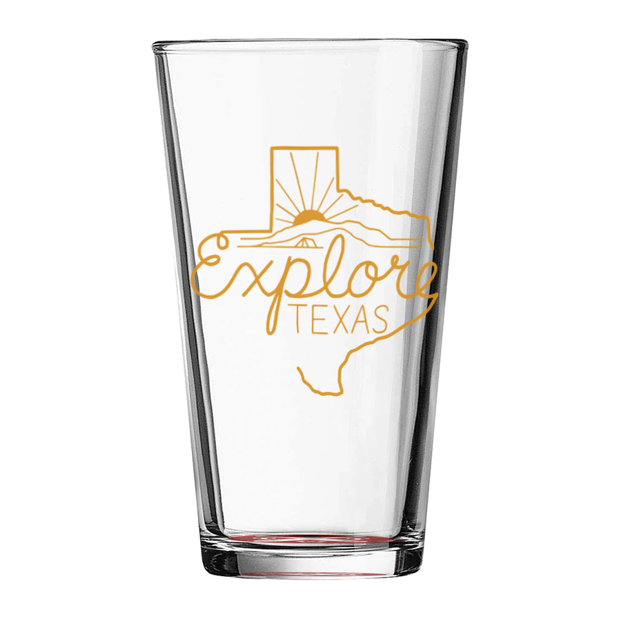 Explore Texas - Pint Glass