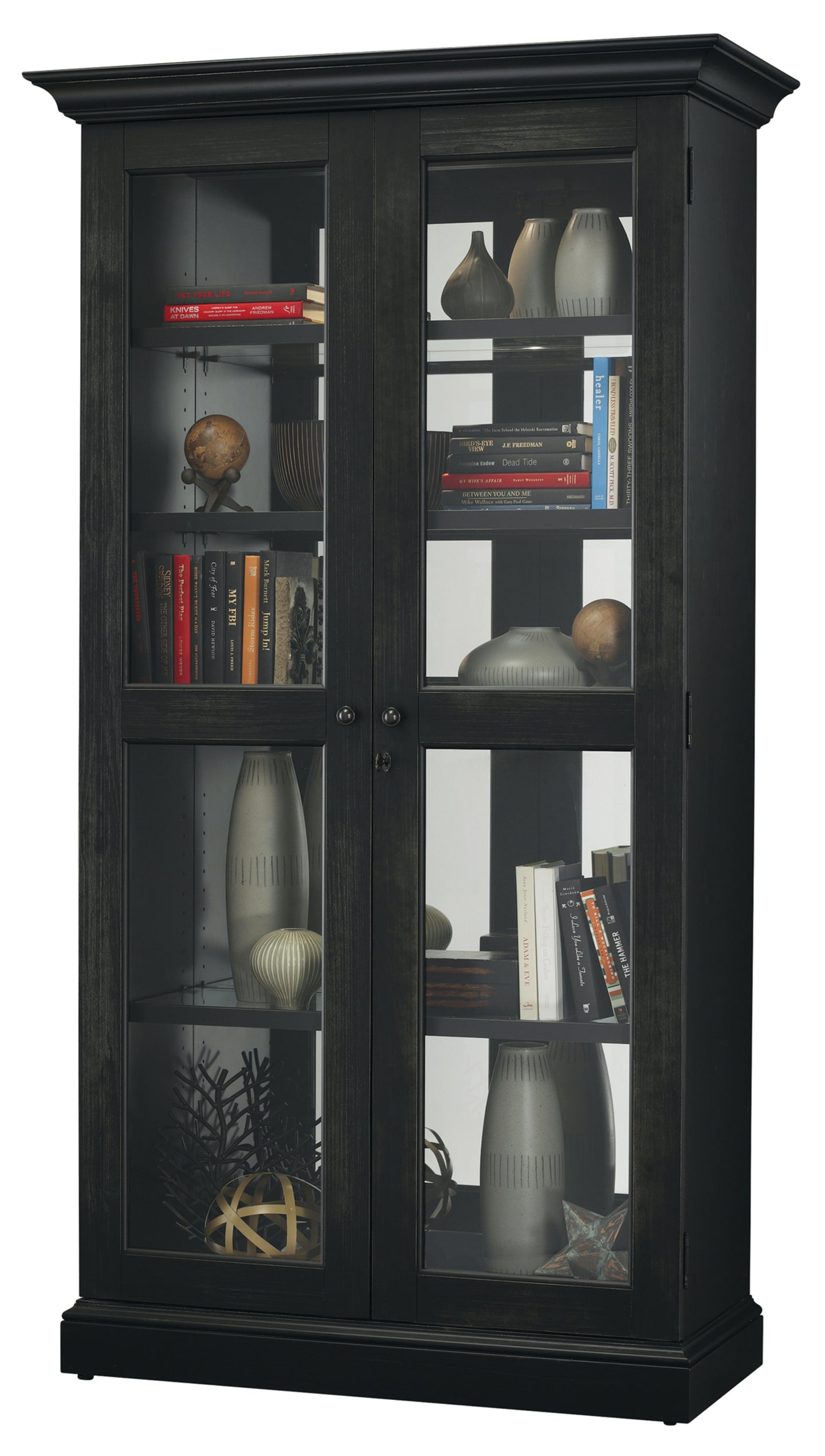 Howard Miller Lennon II Display Cabinet 670006 - Curios And More