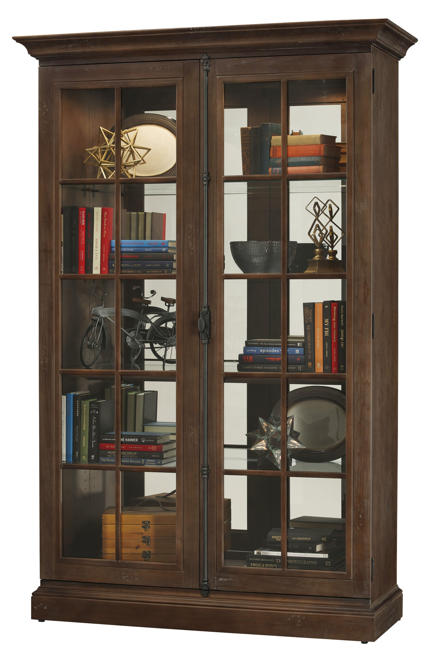 Howard Miller Clawson Display Cabinet 670020 - Curios And More