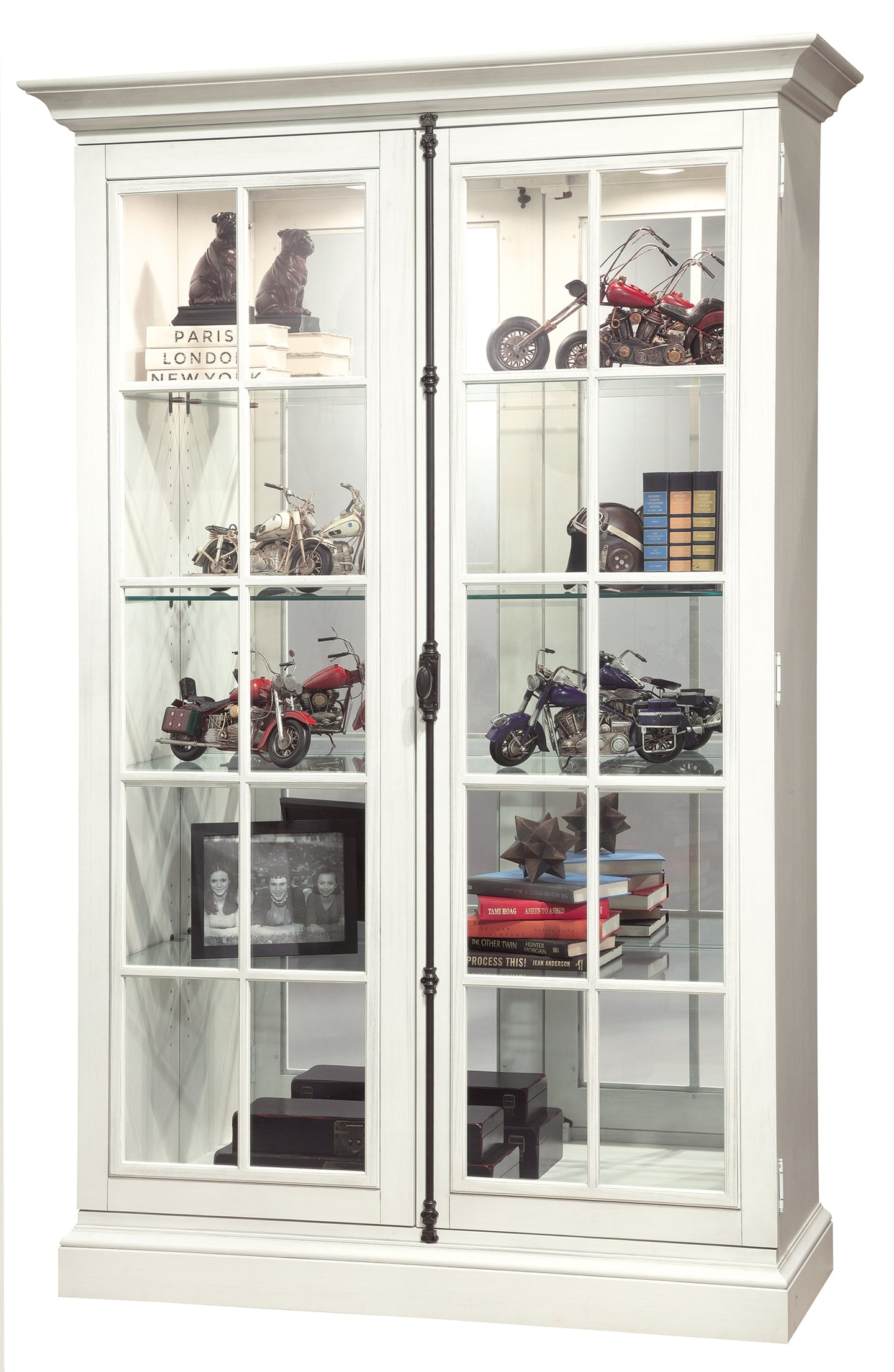 Howard Miller Clawson V Display Cabinet 670024 - Curios And More