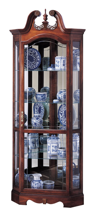 Howard Miller Berkshire Corner Curio Cabinet 680205 - Curios And More
