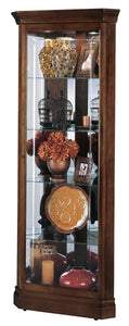 Howard Miller Jennings Corner Curio Cabinet 680346 - Curios And More
