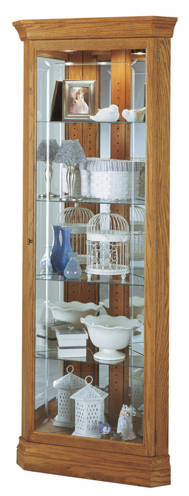 Howard Miller Hammond Corner Curio Cabinet 680347 - Curios And More