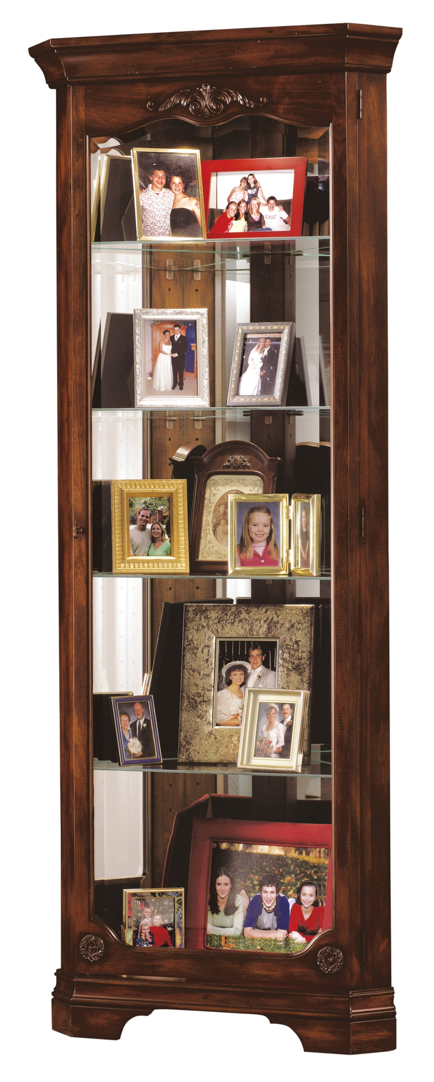 Howard Miller Constance Corner Curio Cabinet 680404 - Curios And More