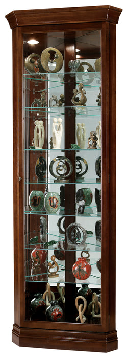 Howard Miller Drake Corner Curio Cabinet 680483 - Curios And More
