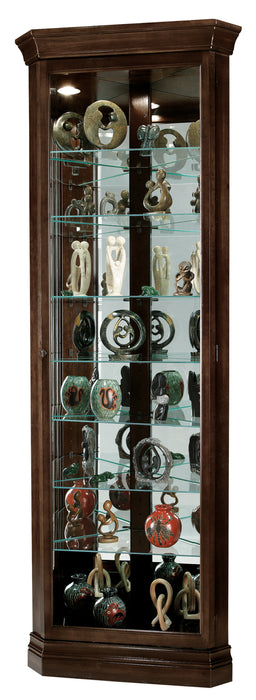 Howard Miller Dustin Corner Curio Cabinet 680484 - Curios And More