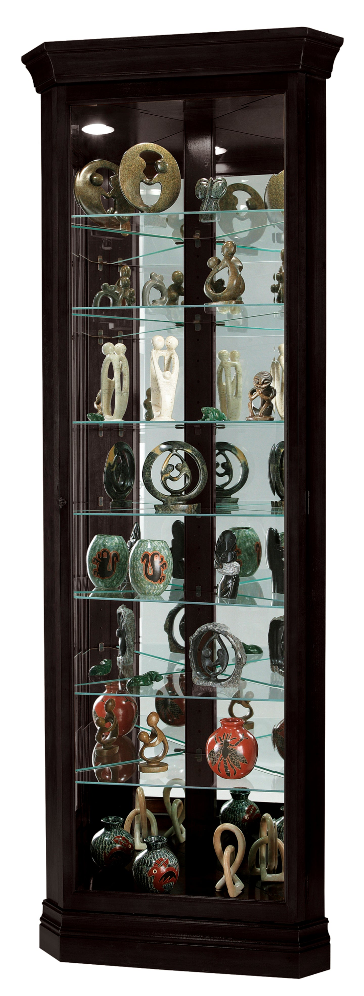 Howard Miller Duane Corner Curio Cabinet 680487 - Curios And More