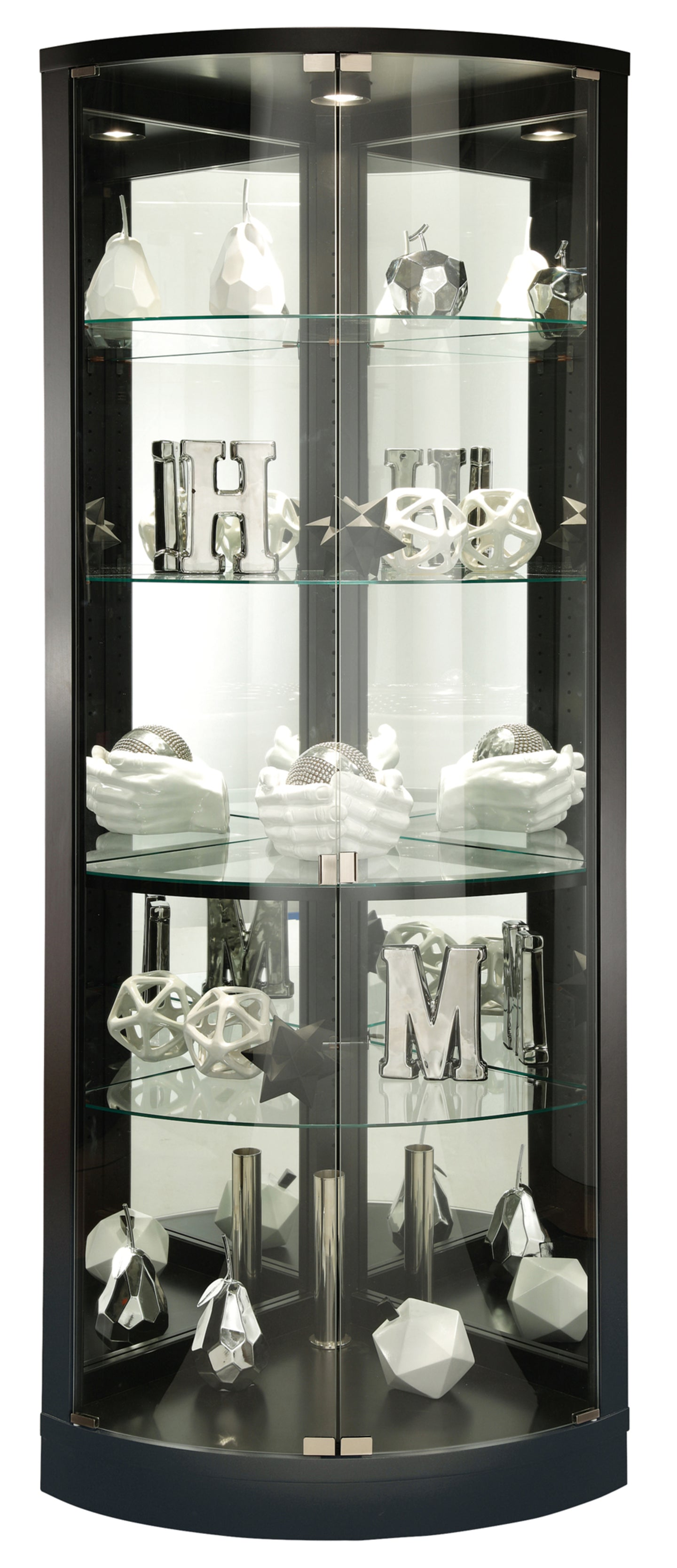 Howard Miller Jaime Corner Curio Cabinet 680609 - Curios And More