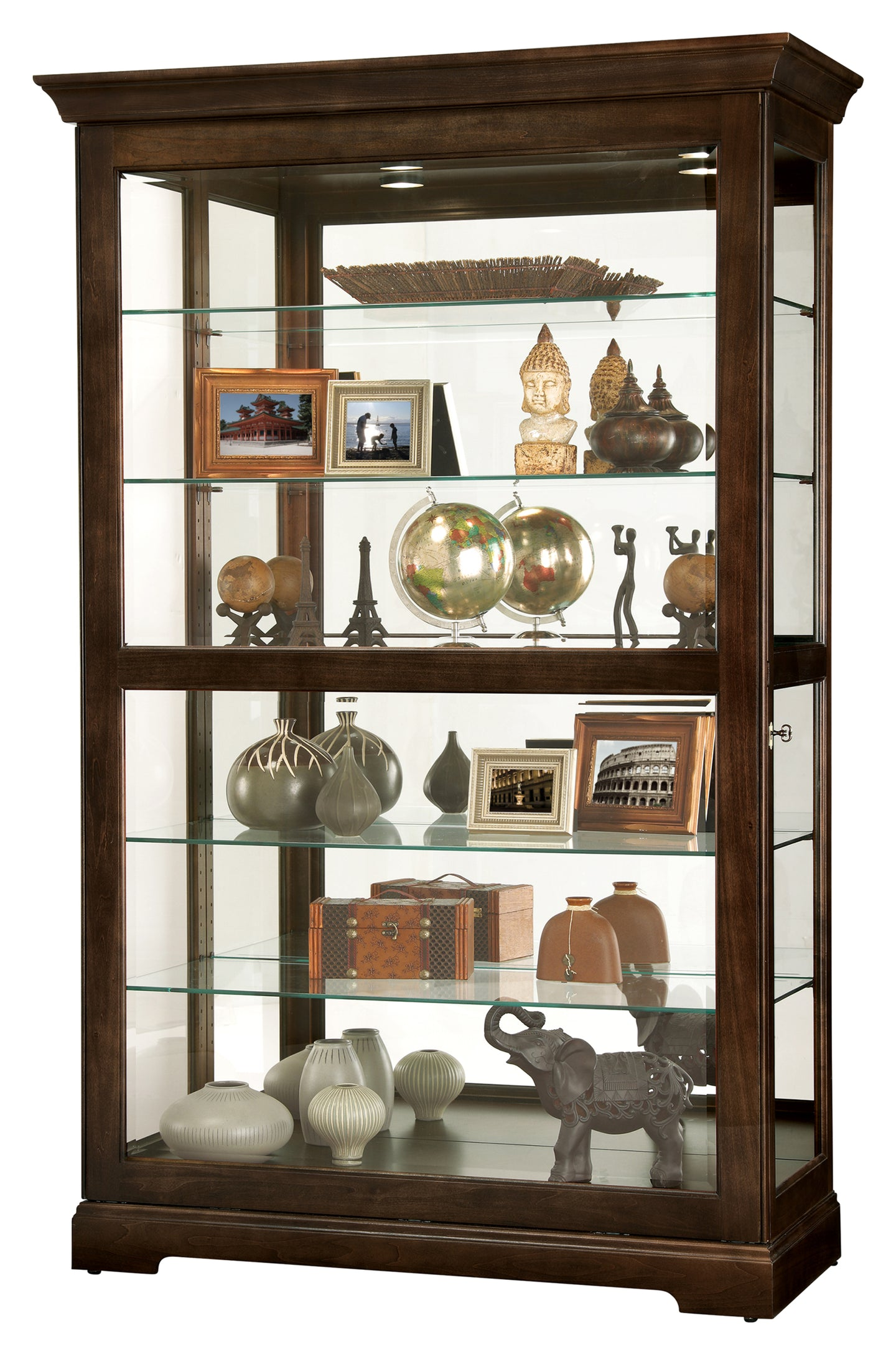 Howard Miller Kane III Curio Cabinet 680626 - Curios And More