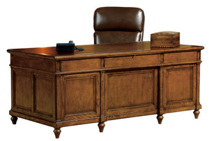 Hekman Office Executive Desk in Urban Ash Burl 79100 - Curios And More