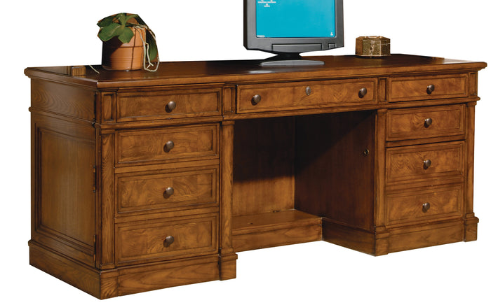 Hekman Office Executive Credenza in Urban Ash Burl 79101 - Curios And More