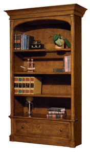 Hekman Office Executive Center Bookcase in Urban Ash Burl 79104 - Curios And More