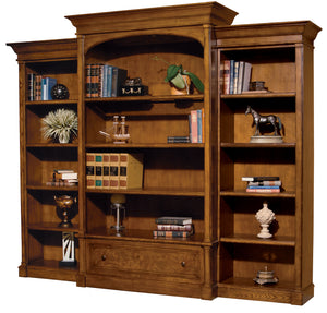 Hekman Office Executive Left Pier Bookshelf in Urban Ash Burl 79106 - Curios And More