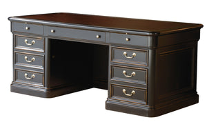 Hekman Office Louis Philippe Executive Desk 79140 - Curios And More