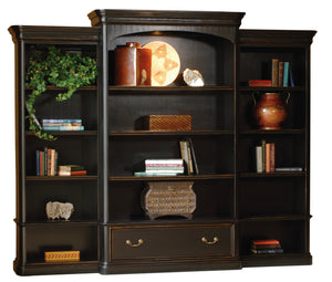 Hekman Office Louis Philippe Executive Left Pier Bookshelf 79146 - Curios And More