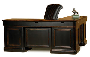 Hekman Office Louis Philippe Executive L-Shaped Desk 79147 - Curios And More