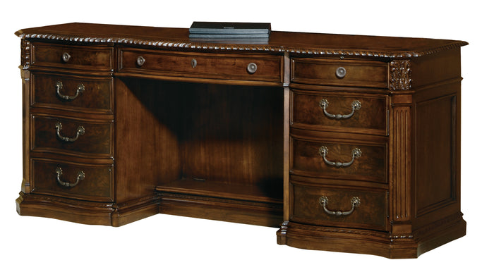 Hekman Office Executive Credenza in Old World Walnut 79161 - Curios And More