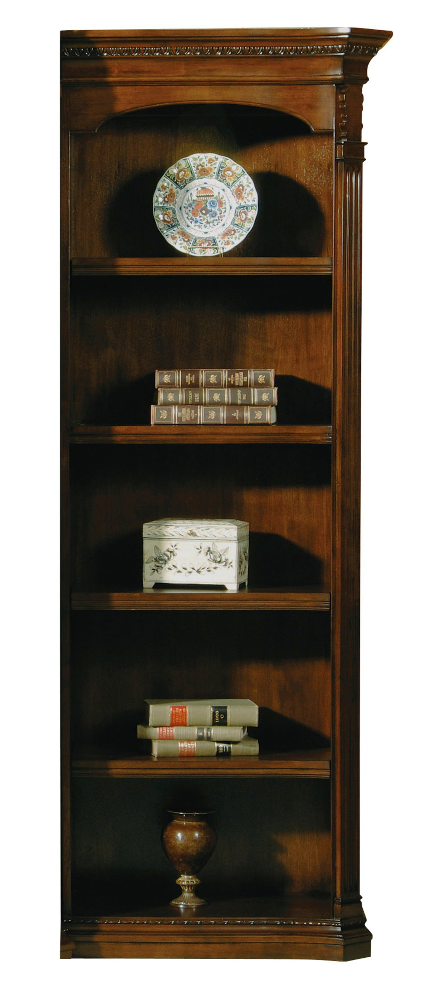 Hekman Office Executive Right Pier Bookshelf in Old World Walnut 79165 - Curios And More