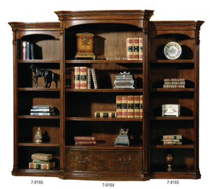 Hekman Office Executive Left Pier Bookshelf in Old World Walnut 79166 - Curios And More