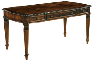 Hekman Office Executive Table Desk in Old World Walnut 79168 - Curios And More