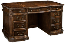 Hekman Office Junior Executive Desk in Old World Walnut 79170 - Curios And More