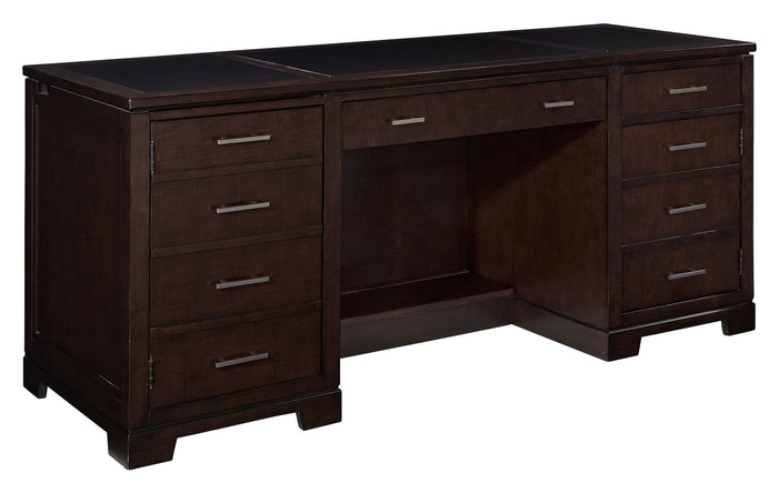 Hekman Office Executive Credenza in Mocha 79181 - Curios And More