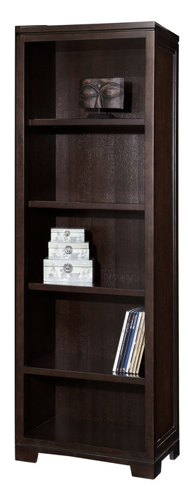 Hekman Office Executive Right or Left Pier Bookshelf in Mocha 79185 - Curios And More