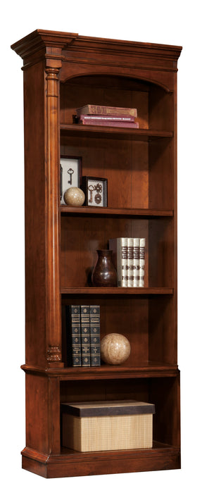 Hekman Office Executive Left Pier Bookshelf in Weathered Cherry 79276 - Curios And More