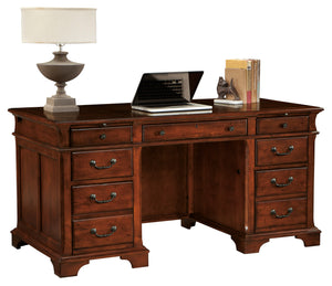 Hekman Office Junior Executive Desk in Weathered Cherry 79280 - Curios And More