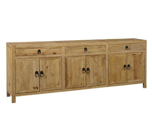 Furniture Classics Large Old Elm Sideboard 20-046 - Curios And More