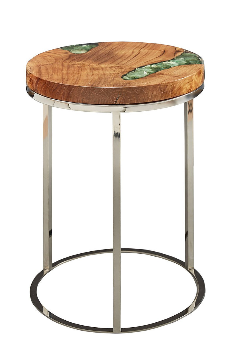 - Furniture Classics Ocean Green Accent Table 01-2 – Curios And More