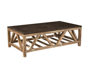 Furniture Classics Old Fir and Bluestone Coffee Table 72312 - Curios And More
