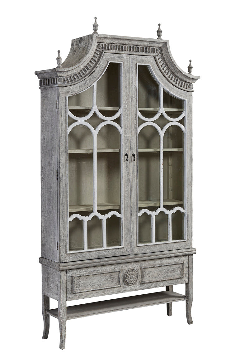 Furniture Classics Reims Cathedral Arched Cabinet 40-88BLK Front