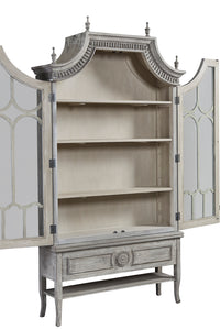 Furniture Classics Reims Cathedral Arched Cabinet 40-88BLK Inside