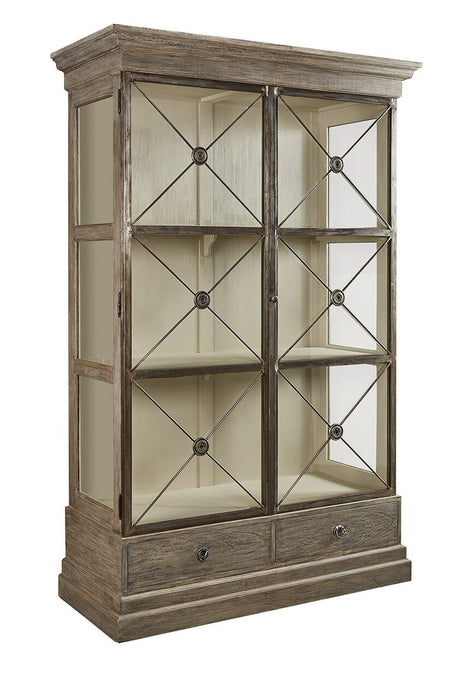 Furniture Classics Xander Glass Door Bookcase 90-25 - Curios And More