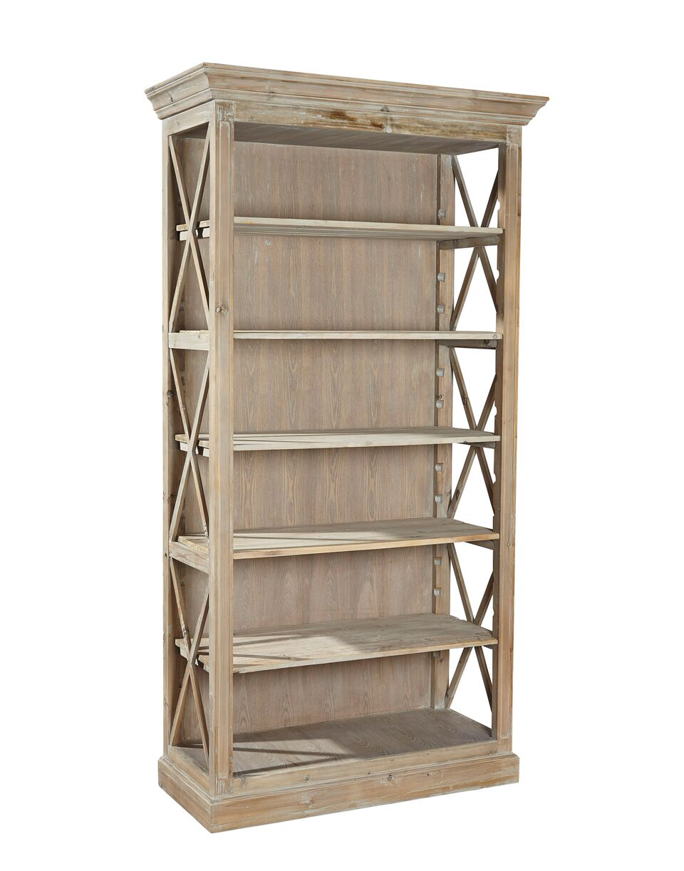 Furniture Classics Weathered Open Bookcase 20-024 - Curios And More